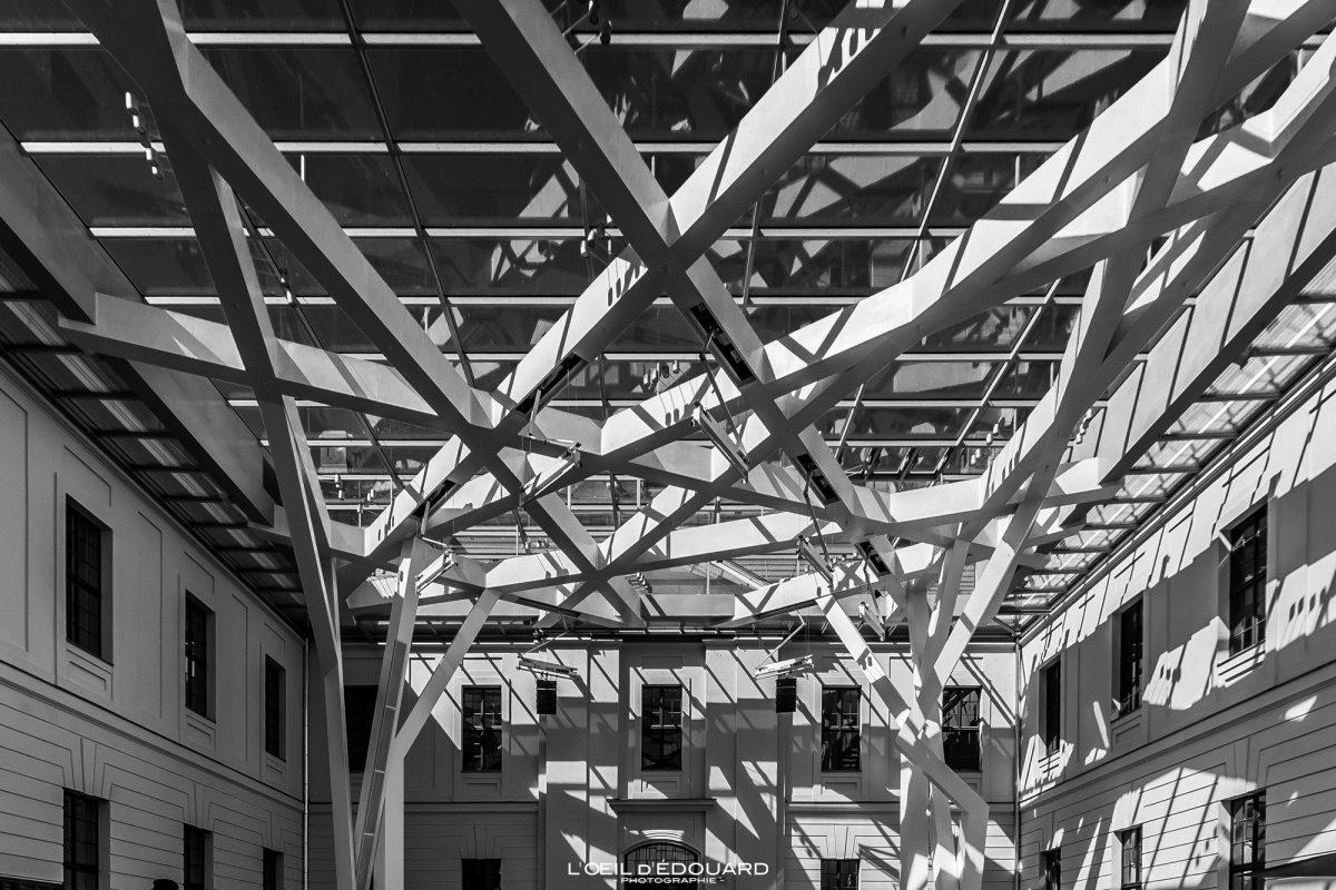 Telhado de vidro Museu Judaico do Salão Kollegienhaus Berlim Alemanha - Museu Judaico Glashof Alemanha Alemanha Museu Judaico Arquitetura Daniel Libeskind