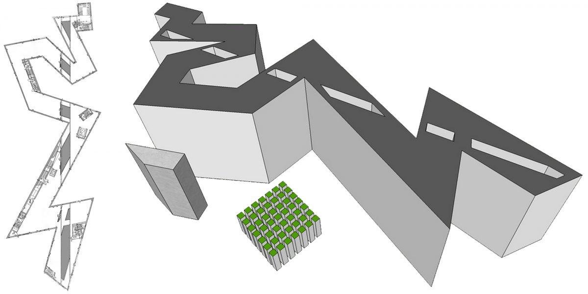 Arquitetura Plano les Vides Museu Judaico de Berlim - Museu Judaico Alemanha Museu Judaico Arquitetura dos Vazios Daniel Libeskind ©