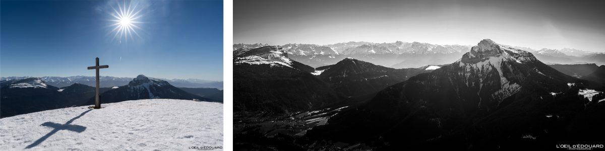 Ski Touring Sommet du Charmant Som no inverno Chartreuse Massif Isère Alpes Montanha Neve França Alpes franceses Paisagem montanhosa Esqui na neve de inverno escalada de montanha