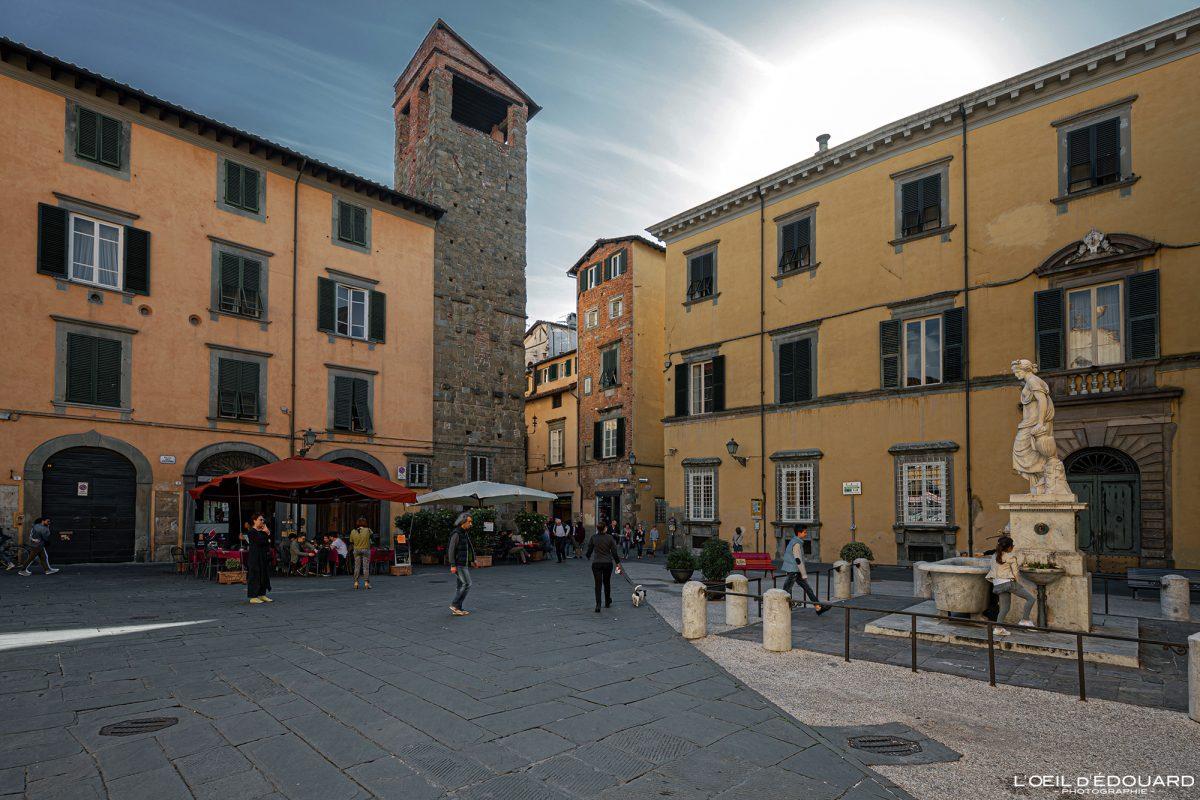 Piazza Lucca Toscana Itália Viagem Turismo - Piazza del Salvatore Lucca Toscana Itália Viagem Itália Toscana