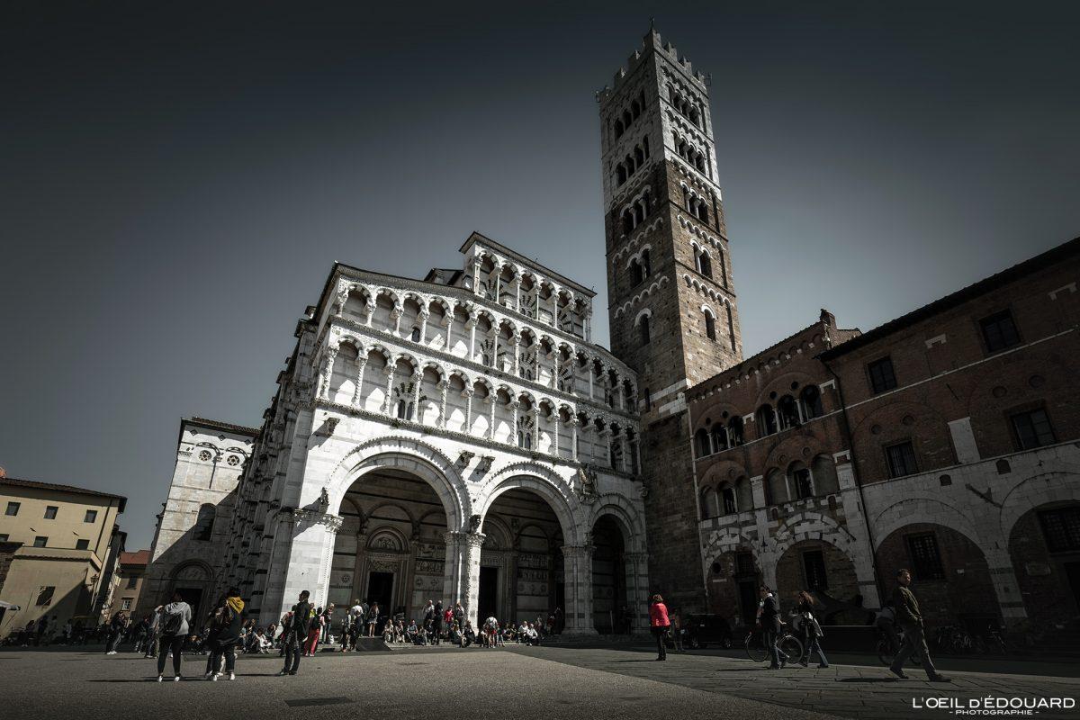 Catedral de San Martino de Lucca Toscana Viagem na Itália Tourisme - Duomo Catedral de San Martino Lucca Toscana Itália Viagem Itália Toscana Arquitetura da igreja italiana