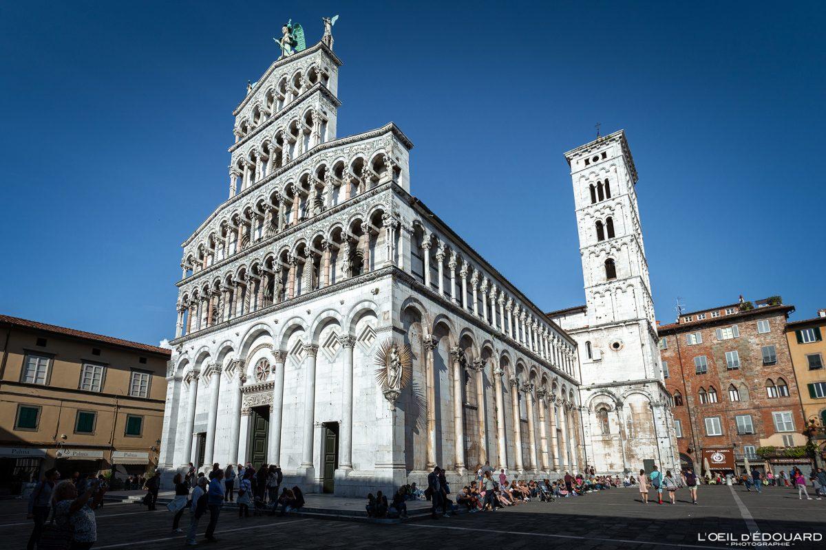 Igreja de Lucca Toscana Itália Viagem Turismo - Igreja de San Michele em Foro Lucca Toscana Itália Viagem Toscana Itália Arquitetura da igreja italiana