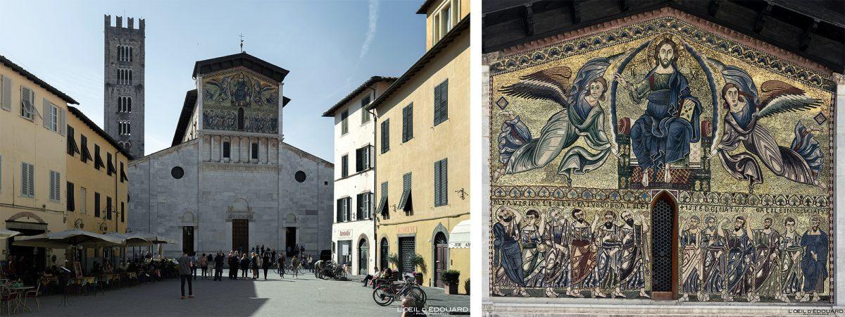 Mosaico Basílica de Lucca Toscana Itália Viagem Turismo - Basílica San Frediano Lucca Toscana Itália Viagem Itália Toscana Arquitetura da igreja italiana