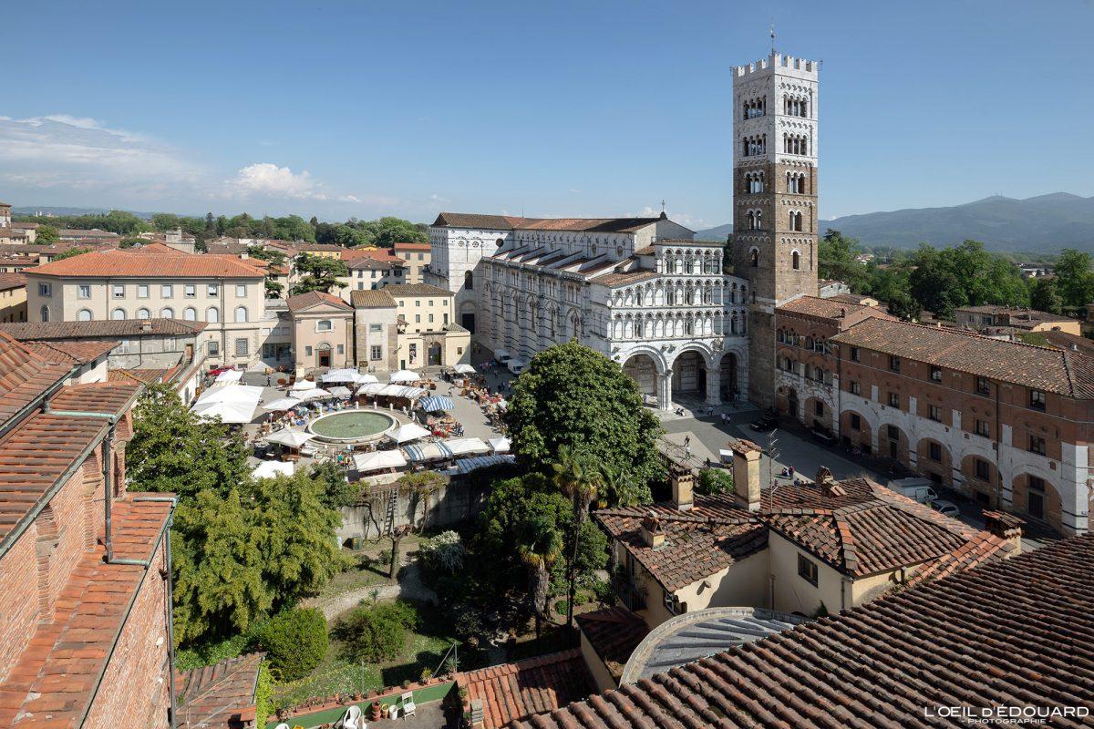 Catedral de San Martino de Lucca Toscana Itália Viagem Tourisme - Duomo Catedral de San Martino Lucca Toscana Itália Viagem Itália Toscana Arquitetura de igreja italiana