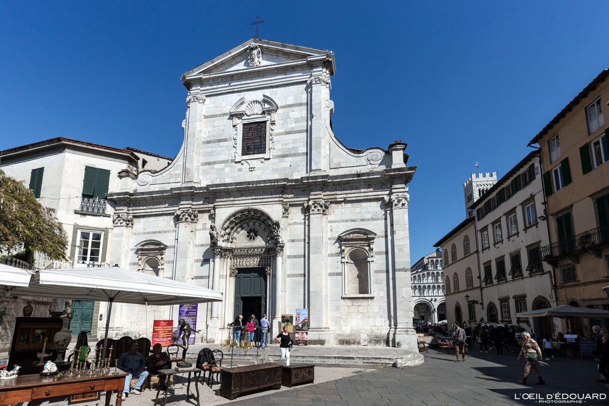 Igreja de Lucca Toscana Itália Viagem Turismo - Igreja de Santi Giovanni e Reparata Lucca Toscana Itália Viagem Itália Toscana Arquitetura de igreja italiana