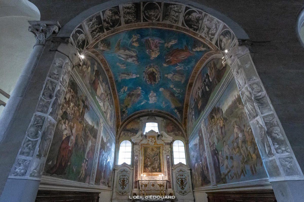 Pintura Capela da Basílica de Sant'Agostino em Lucca Toscana Itália Turismo Viagem - Capela de Santo Agostinho Basílica de San Frediano Lucca Toscana Itália Viagem Itália Toscana Igreja italiana Arte em parede