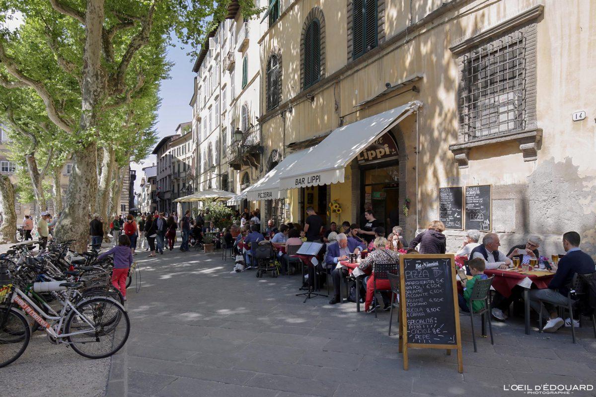 Piazza Napoleone Lucca Toscana Itália Viagem Tourisme - Ristorante Bar Lippi Lucca Toscana Itália Viagem Itália Toscana