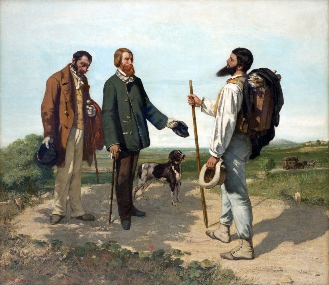 Bonjour Monsieur Courbet (1854) Gustave COURBET - Fabre Musée, Montpellier - Pintura Pintura de Belas Artes