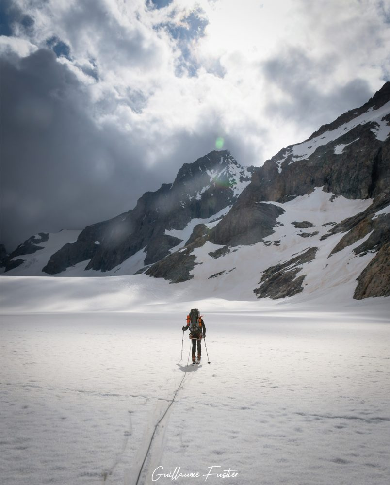 Esqui Esqui Glaciar Blanc Hautes-Alpes Montanha Neve França Alpes franceses Paisagem montanhosa Esqui na neve Esqui na neve