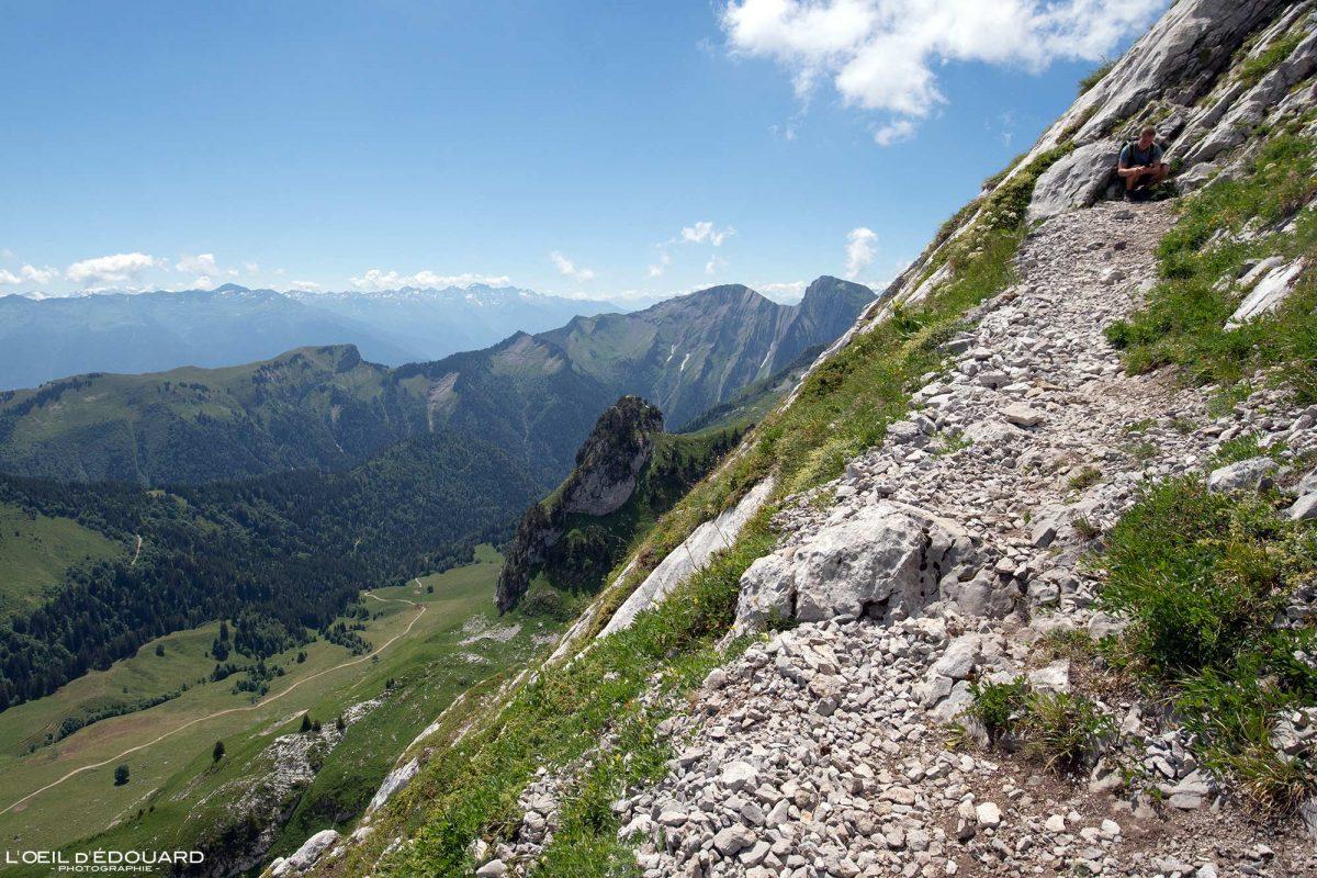 Ãrea de caminhada Arcalod Massif des Bauges Alpes Savoie França Paisagem Montanha - Paisagem montanhosa Alpes franceses Caminhadas ao ar livre Caminhadas
