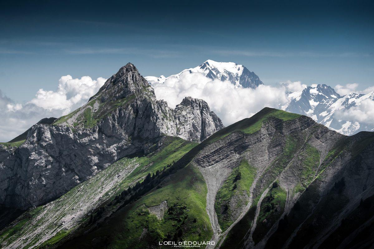 La Pointe la Sambuy, Chaurionde, Mont Blanc - Caminhada Arcalod Massif des Bauges Alpes Savoie França Paisagem Montanha - Paisagem montanhosa Alpes franceses Caminhadas ao ar livre Caminhada