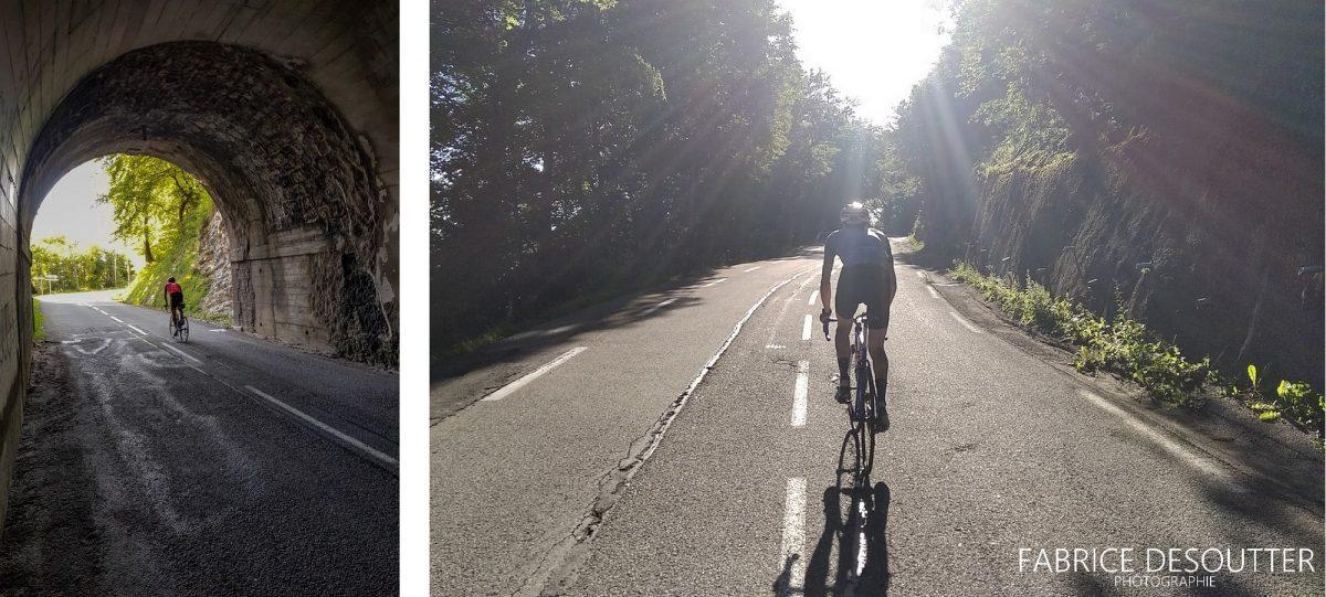 Ciclismo Ciclismo Túnel Pas de la Fosse Rota Col du Granier Maciço de la Chartreuse Alpes Savoy França - Paisagem montanhosa ao ar livre Alpes franceses Paisagem montanhosa Bicicleta de corrida