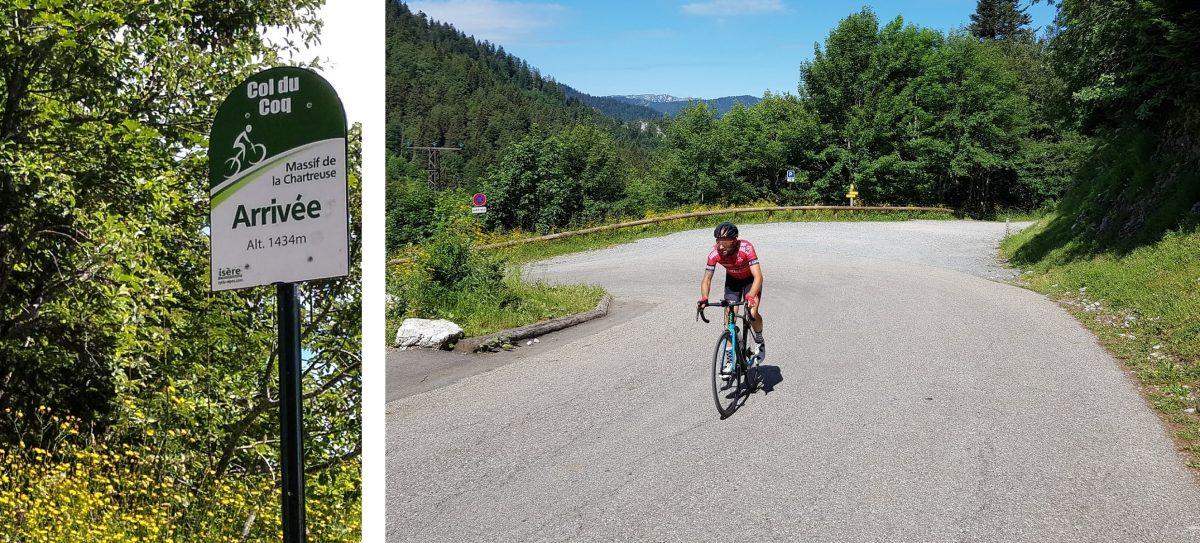 Bicicleta de corrida de ciclismo Col du Coq Massiv de la Chartreuse Alpes Isere França - Paisagem montanhosa ao ar livre Alpes franceses Bicicleta de corrida