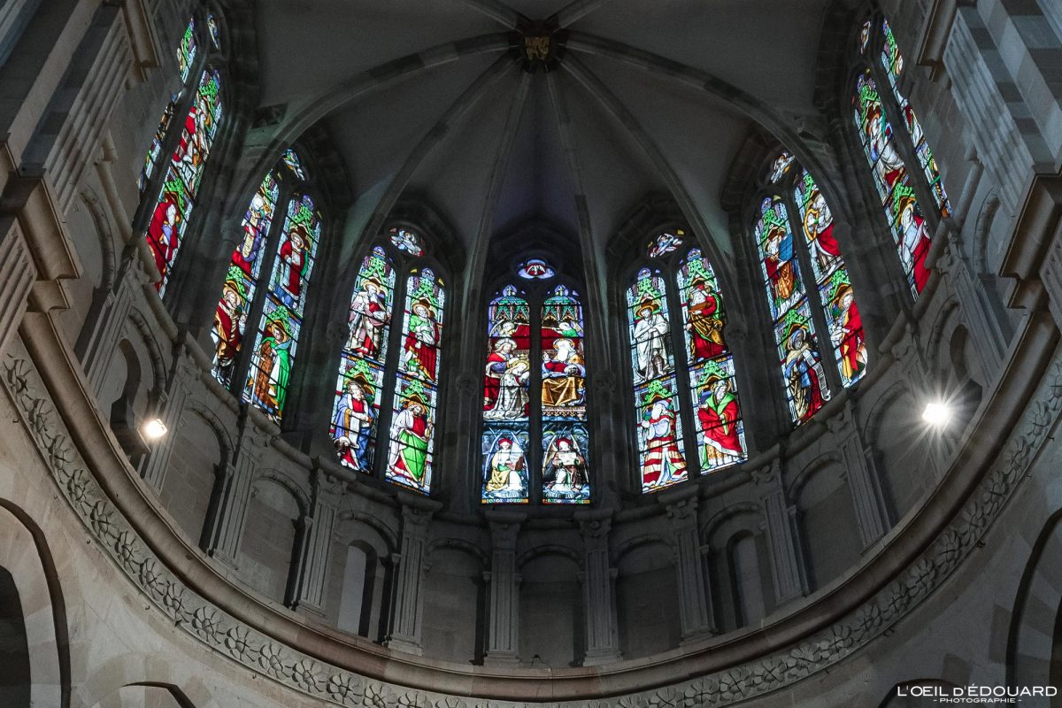 Basílica de vitral Notre-Dame Beaune Borgonha França Igreja gótica Arquitetura gótica