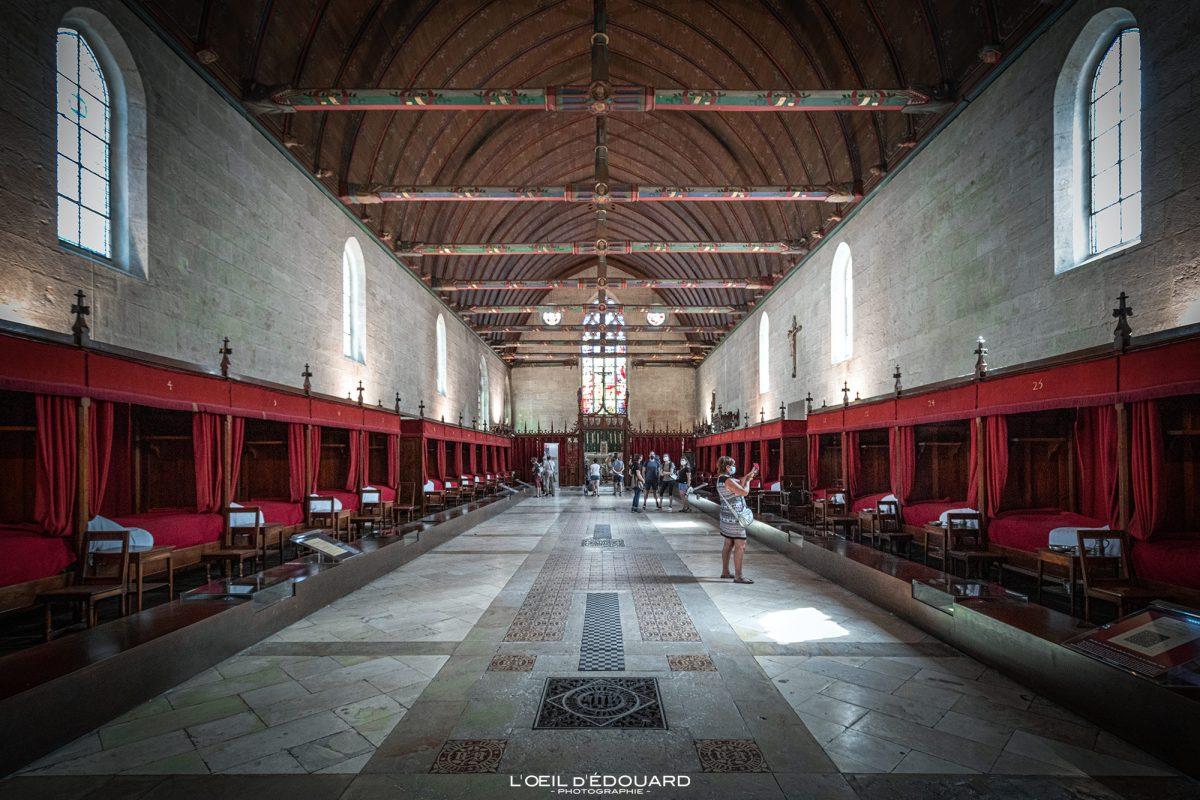 Salle des Pôvres Hotel-Dieu Hospize de Beaune Arquitetura da Borgonha França