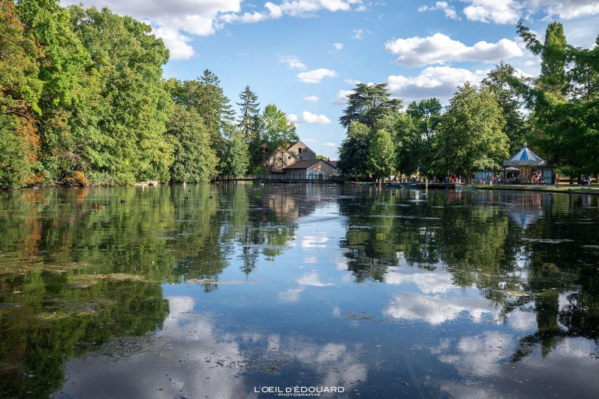 Lago Parc de la Bouzaize Beaune Burgundy França - jardim paisagístico