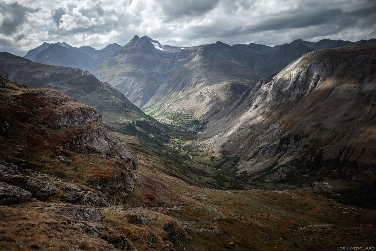 Vale Haute Maurienne com Bonneval-sur-Arc, L'Écot e Pointe de Méan Martin - Alpes Grées, Savoie © L'Oeil d'Édouard - Todos os direitos reservados