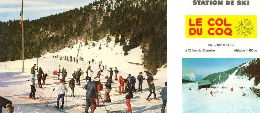 Antiga área de esqui do maciço Col du Coq de la Chartreuse Alpes Isère França - Esportes de inverno Schneeberg Outdoor French Alps Ski alpino de inverno