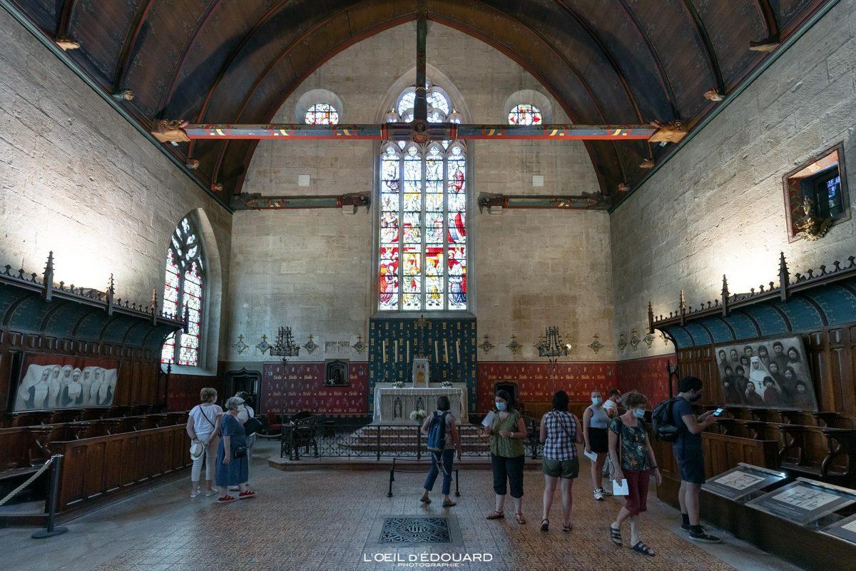 Capela Salle des Pôvres Hotel-Dieu Hospize de Beaune Borgonha Arquitetura da França