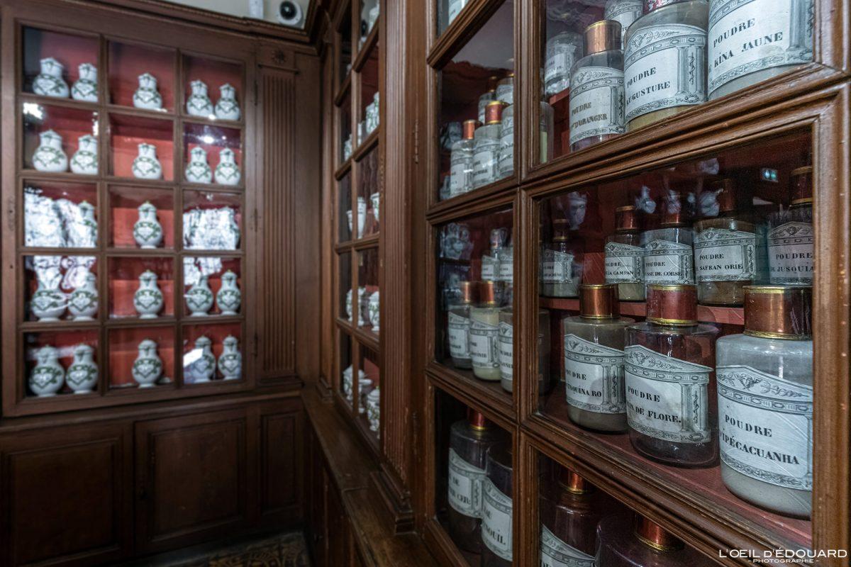 Farmácia do Hôtel-Dieu Hospize de Beaune Burgundy França arquitetura