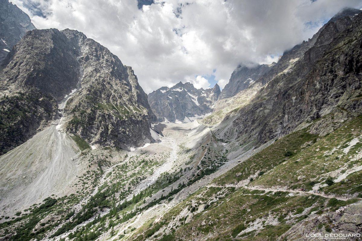 Vallon du Glacier Noir Caminhada Refuge du Gletscher Blanc Maciço des Ecrins Altos Alpes França Paisagem montanhosa - Paisagem montanhosa Alpes franceses Caminhada ao ar livre
