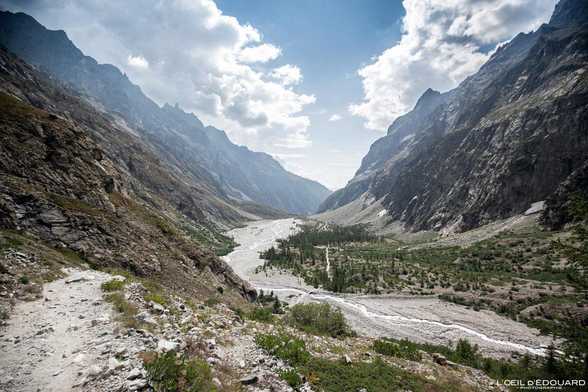 Pré de Madame Carle Cabane du Gletscher Blanc Maciço des Ecrins Hautes-Alpes França Paisagem montanhosa - Paisagem montanhosa Alpes franceses Caminhadas ao ar livre