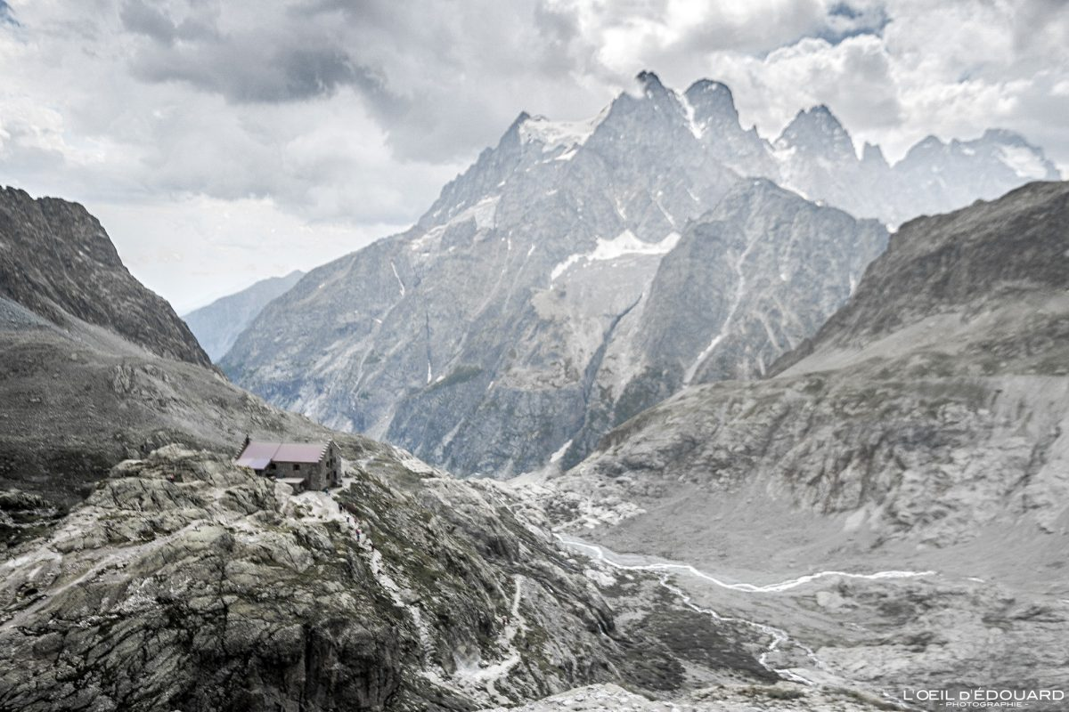 Refuge du Glacier Blanc e Mont Pelvoux Maciço des Ecrins Hautes-Alpes França Caminhadas Paisagem montanhosa - Paisagem montanhosa Alpes franceses Caminhadas ao ar livre Caminhadas