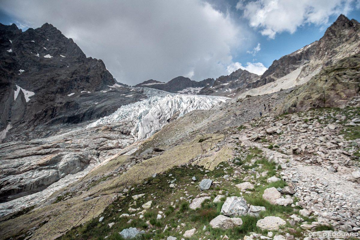 Trilha de caminhada para o Glaciar Ecrins Maciço du Blanc Hautes Alpes França Caminhada Paisagem montanhosa - Paisagem montanhosa Alpes franceses Caminhadas ao ar livre Caminhada