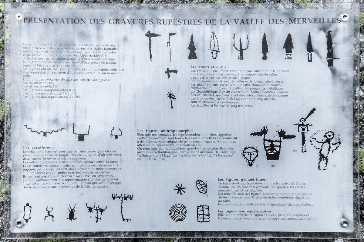 Gravura rupestre Vallée des Merveilles - Maciço du Mercantour Alpes-Maritimes Provença-Alpes-Côte d'Azur / Arqueologia facial Pré-história Arte pré-histórica