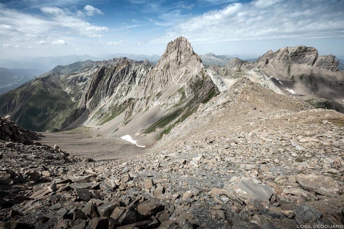 O Col de la Nova e o Aiguille de la Nova, Le Beaufortain Savoie Paisagem Alpes montanhosos © L'Oeil d'Édouard - Todos os direitos reservados