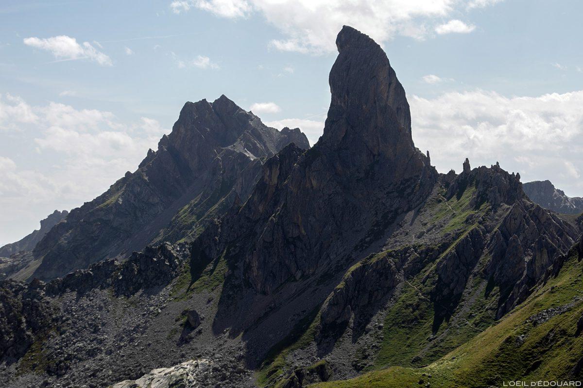 La Pierra Menta du Refuge de Presset, paisagem montanhosa dos Alpes Le Beaufortain Savoie