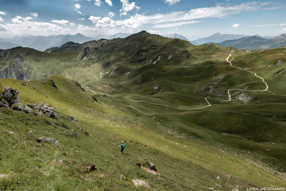 O Col des Tufs Blancs e a Pointe de Dzonfié, Le Beaufortain Savoie Paisagem dos Alpes Montanhosos © L'Oeil d'Édouard - Todos os direitos reservados