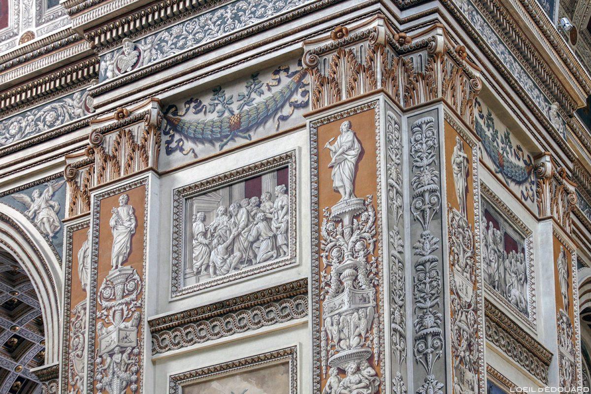 Pintura Trompe-l'oeil na nave da Basílica de Sant'Andrea, Mântua Itália - Igreja Basílica de Sant'Andrea, Igreja Mântua Itália Itália / arquitetura barroca Léon Battista Alberti