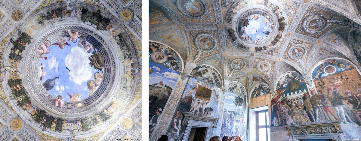 Casa do Oculus of the groom, Palace Ducal, Mantova Itália - afrescos de Andrea Mantegna / La Camera degli Sposi (1465-1474) Palazzo Ducale di Mantova, Itália Pintura de pisos da Itália