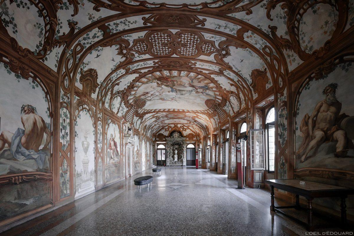 Sala do rio, interior do Palácio Ducal, Mantova Itália - Sala dei Fiumi, Palazzo Ducale di Mantova, Itália Itália Sala do palácio