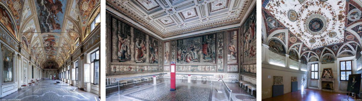 Sala, interior do Palazzo Ducale, Mântua Itália - Salões Interior do Palazzo Ducale em Mântua, Itália Salão do Palácio