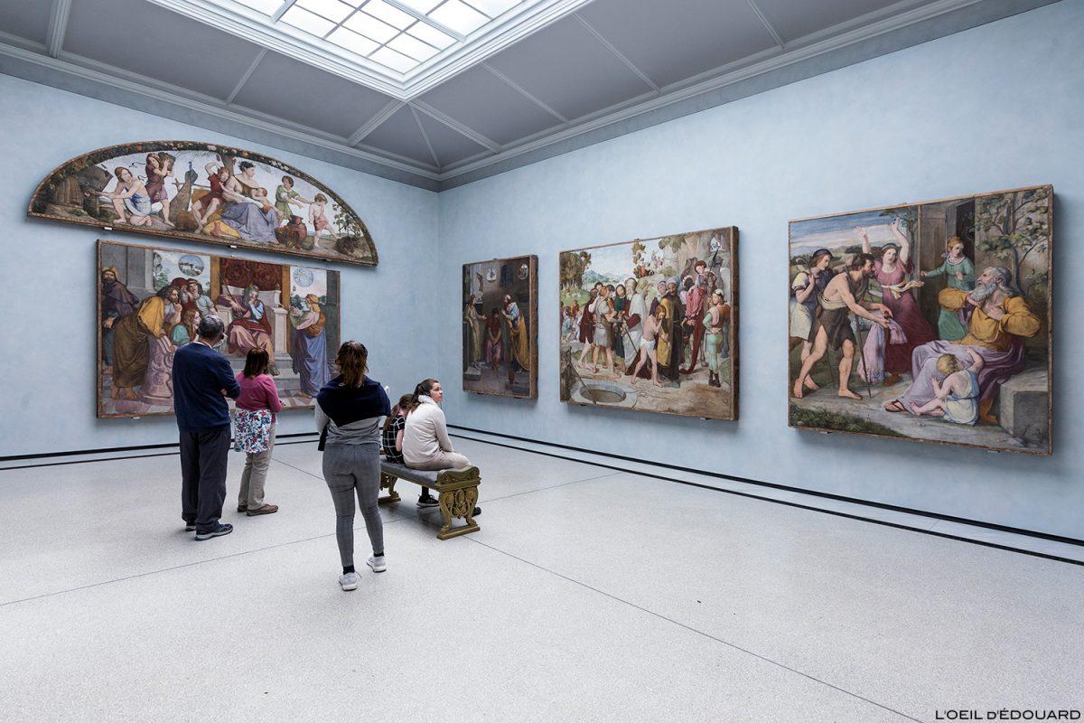 Afrescos nas paredes da Casa Bartholdy em Roma (Roma) - Alte Nationalgalerie, Ilha dos Museus em Berlim Alemanha / Museuminsel Deutschland Alemanha pintura
