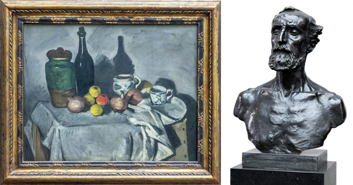 Antiga Galeria Nacional: Natureza morta (frutas e vasos) (1870) Paul Cézanne / Jules Dalou (1883) Auguste Rodin - Ilha dos Museus de Berlim Alemanha / Ilha dos Museus Alemanha Alemanha Pintura escultura