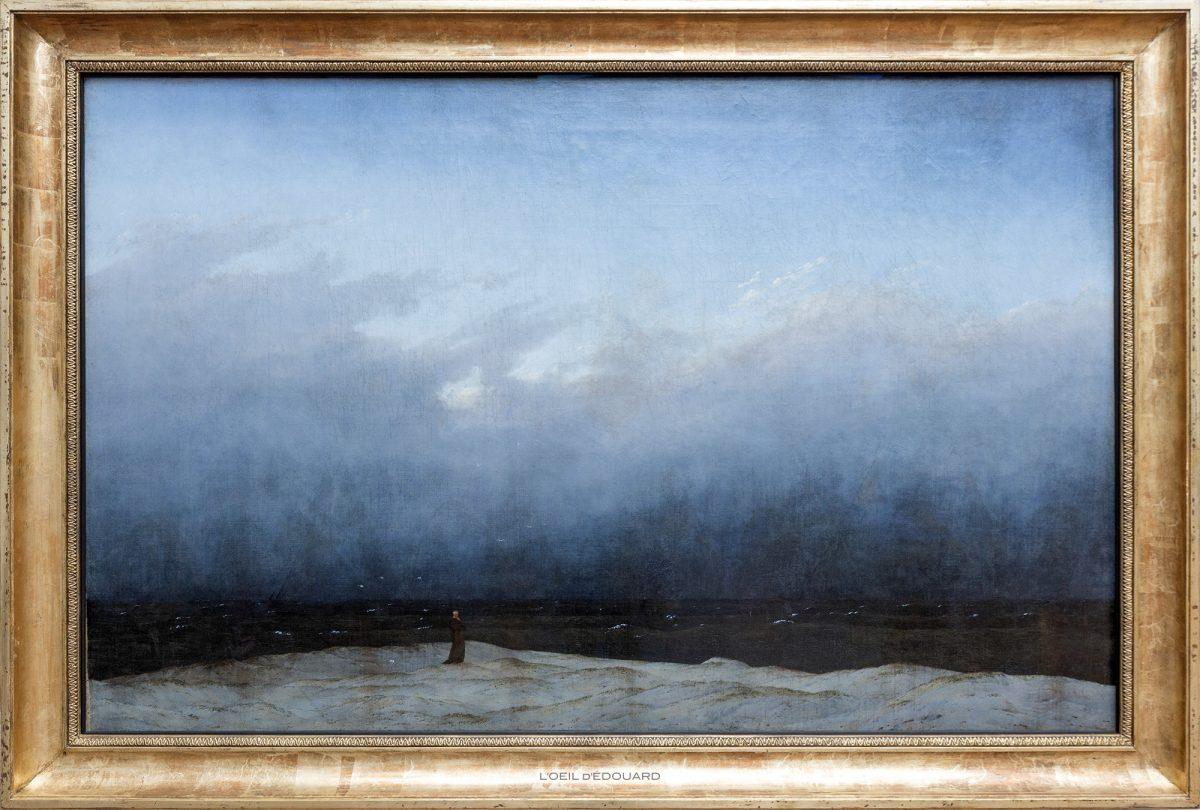 Der Mönch am Meer / Der Mönch am Meer (1809/1810) Caspar David Friedrich - Antiga Galeria Nacional, Ilha dos Museus de Berlim Alemanha / Ilha dos Museus Alemanha Alemanha Pintura