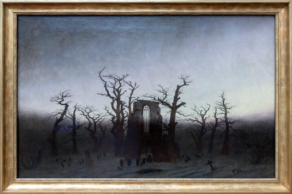 Abadia em uma floresta de carvalhos / Abtei im Eichwaldr (1809/1810) Caspar David Friedrich - Alte Nationalgalerie, Berlin Museum Island Germany / Museum Island Germany Alemanha Pinturas