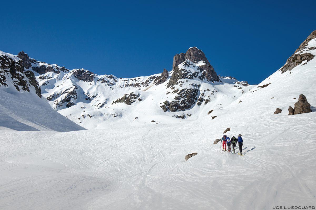 La Pierra Menta no inverno - Maciço du Beaufortain, Savoie / montanha esqui alpinismo montanha inverno neve esqui caminhadas