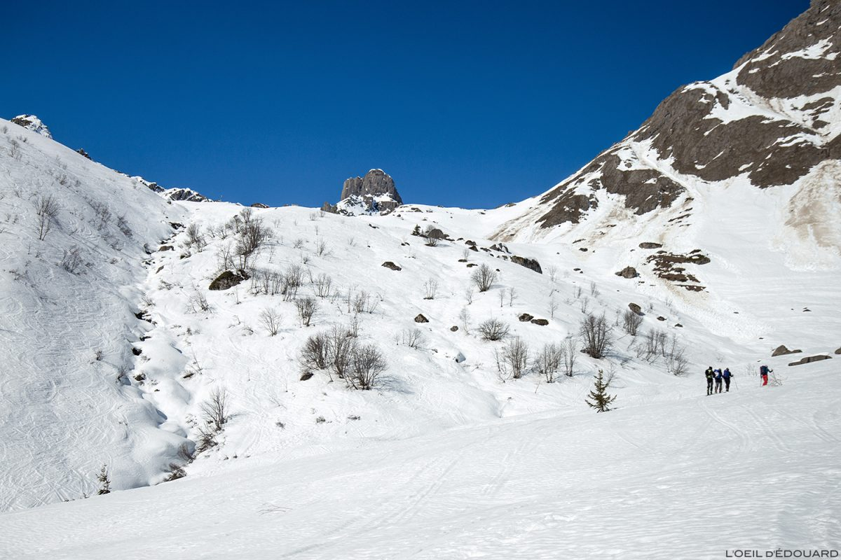 La Pierre Menta e o refúgio Balme no inverno - maciço Beaufortain, Savoy / Ski montanhismo paisagem Paisagem montanhosa Ao ar livre Ski touring nas montanhas