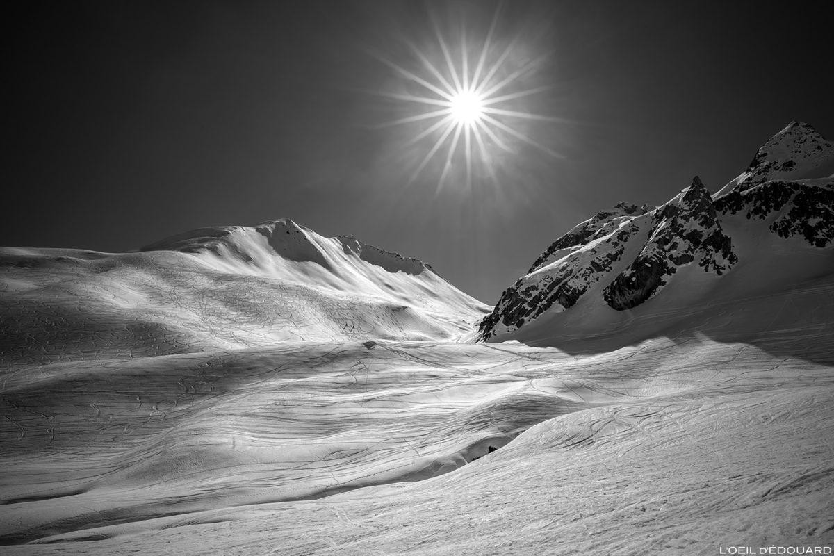 Mont Rosset e Col du Mont Rosset no inverno sob a neve - maciço de Beaufortain, Savoie / Skitourenlandschaft Paisagem Montanha ao ar livre Montanha Inverno Neve Esqui