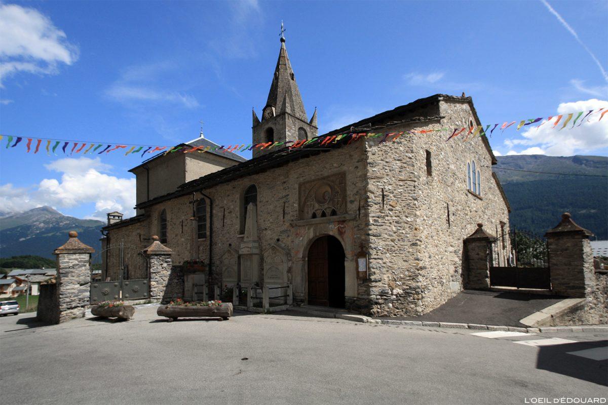 Igreja de Nossa Senhora da Assunção em Aussois, Alpes Haute Maurienne Savoie