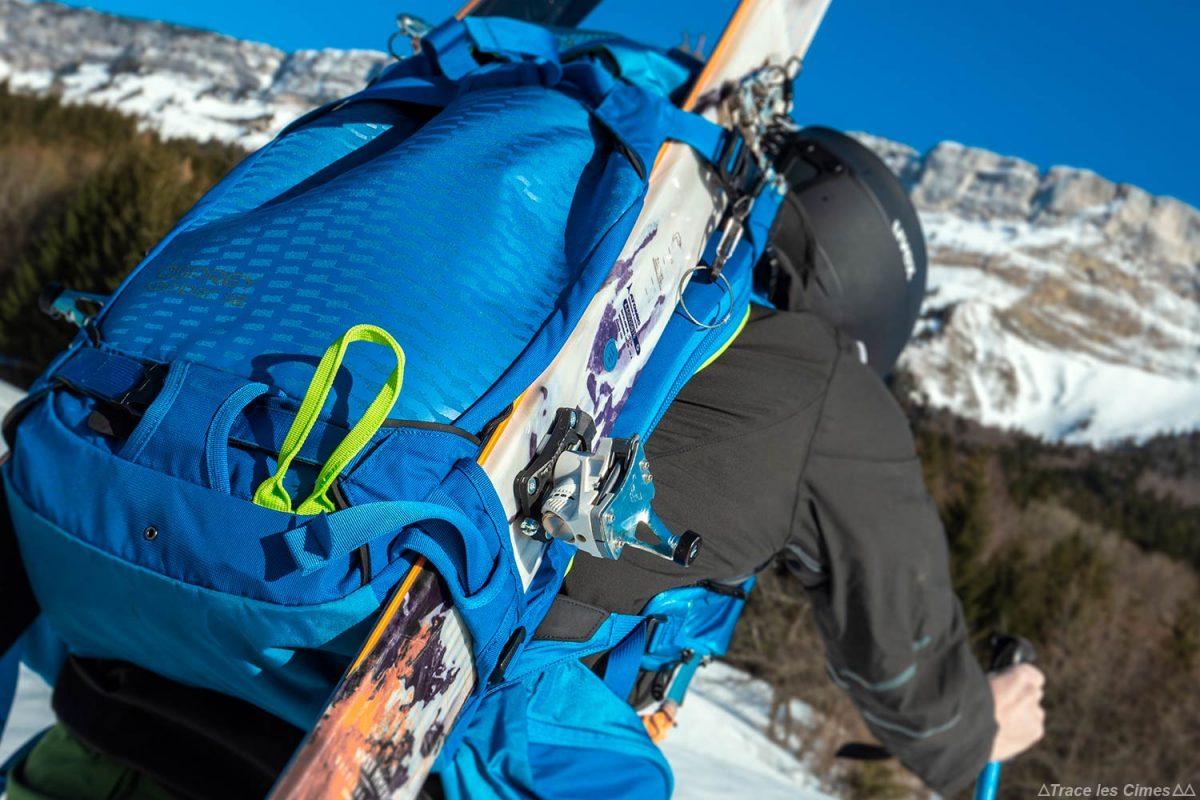Mochila de ski touring Test Osprey Kamber 32 litros: transporte lateral de esquis