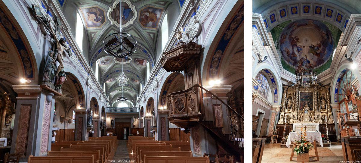 Interior barroco - Igreja de Nossa Senhora da Assunção - Alpes Haute Maurienne Savoie