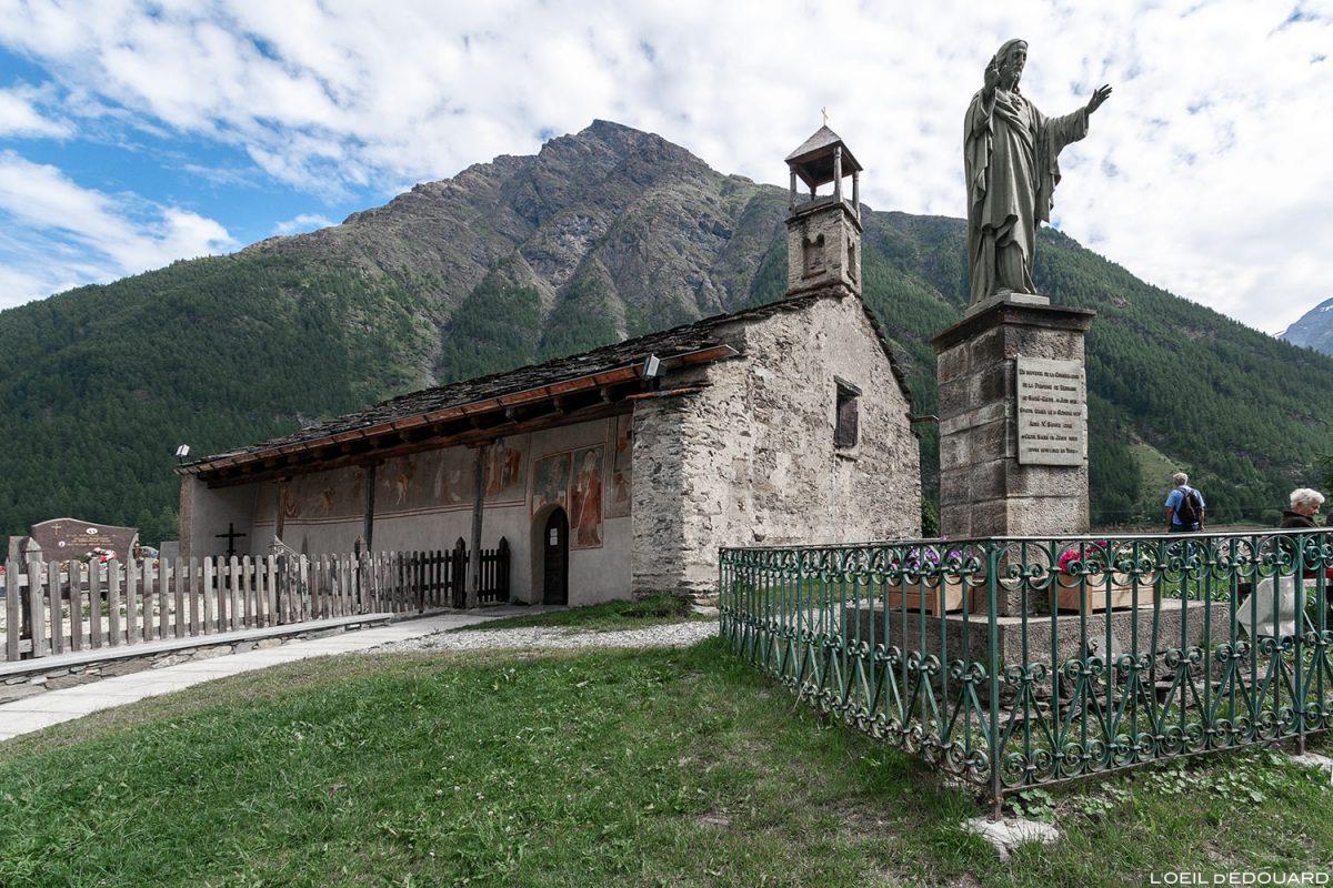 Chapelle Saint-Antoine em Bessans - Alpes Haute Maurienne Savoie