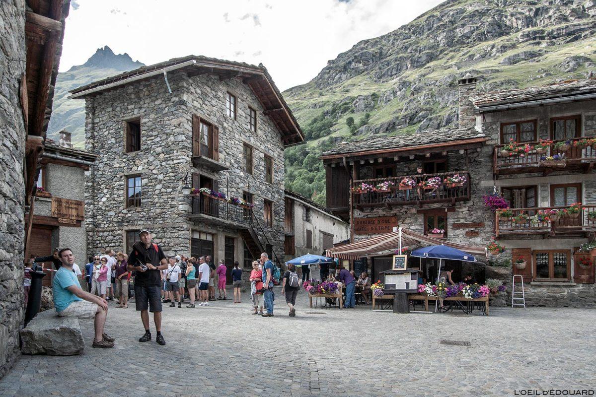 Praça da aldeia Bonneval-sur-Arc - Savoie-Alpes Haute-Maurienne