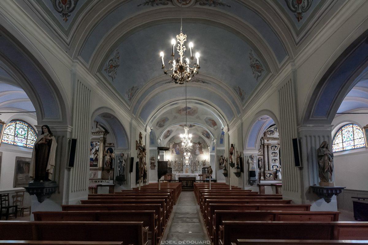 Interior barroco - Igreja de Saint Pierre em Bessans - Alpes de Haute Maurienne Savoie