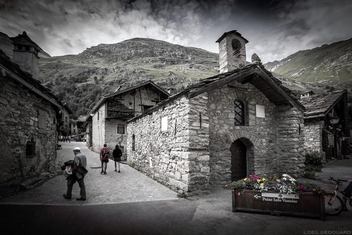 Capela da aldeia de Bonneval-sur-Arc - Alpes de Haute Maurienne Savoie